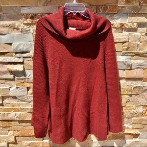 A New Day Copper Cowl Neck Capelet Sweater